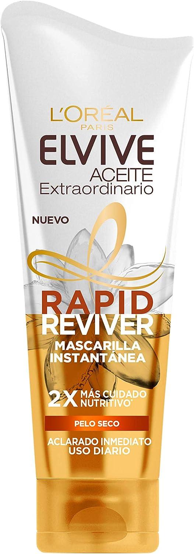 L'Oréal Paris Elvive Aceite Extraordinario Rapid Reviver, Mascarilla Instantánea Nutritiva para Pelo Seco, 180ml