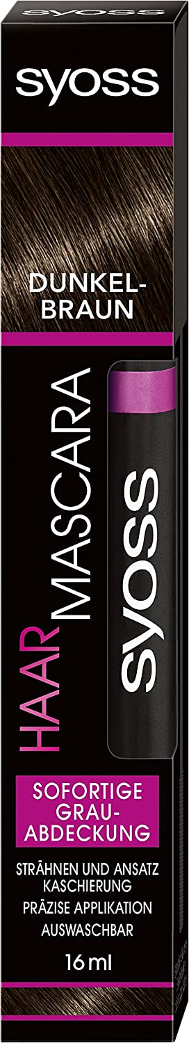 Syoss capelli Mascara colorazione marrone scuro, 16 ML Syoss Haar Mascara SA007