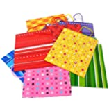 24 Medium Gift Bags - Assorted (Choose Your Style) (24 pc BRIGHT PRINT mix- assorted medium 9 inch)