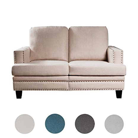 Strange Amazon Com Top Space Loveseat Sofa Modern Upholstered Couch Bralicious Painted Fabric Chair Ideas Braliciousco