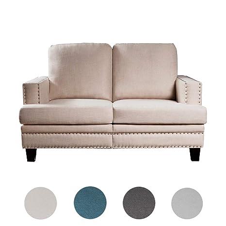 Strange Amazon Com Top Space Loveseat Sofa Modern Upholstered Couch Inzonedesignstudio Interior Chair Design Inzonedesignstudiocom