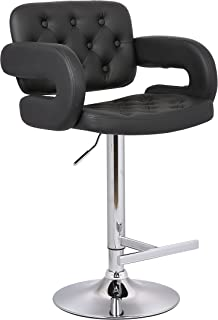 Christies Home Living Modern Black Leather Adjustable Button-tufted Upholstered Barstool  sc 1 st  Amazon.com & Amazon.com: Coaster Adjustable Bar Stool with Arms in Black Faux ... islam-shia.org