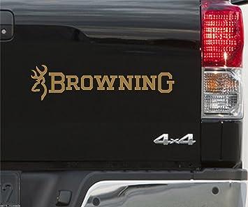 Pegatinas para coche, diseño de Browning y Buckmark, para amantes de la caza y la pesca, 500 mm: Amazon.es: Coche y moto