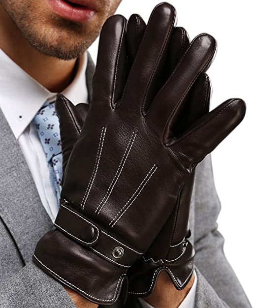 424f3f4faf92f Harrms Best Luxury Touchscreen Italian Nappa Leather Gloves for men's  Texting Driving (2XL-9.8""