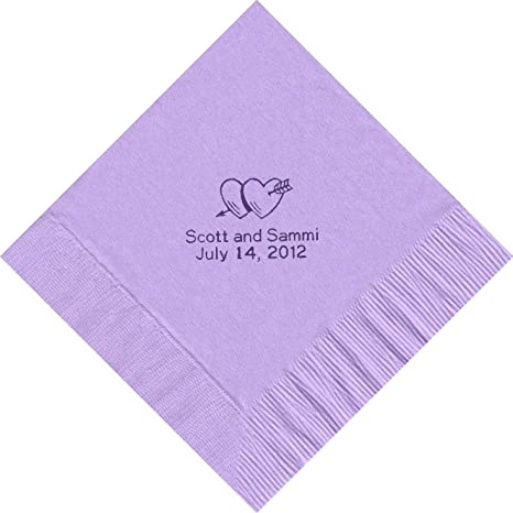 amazon com 100 printed personalized luncheon dinner party napkins