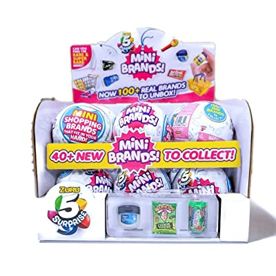 Zuru 5 Surprise Mini Brands Case of 12 Capsule Balls with Food Stickers: Toys & Games
