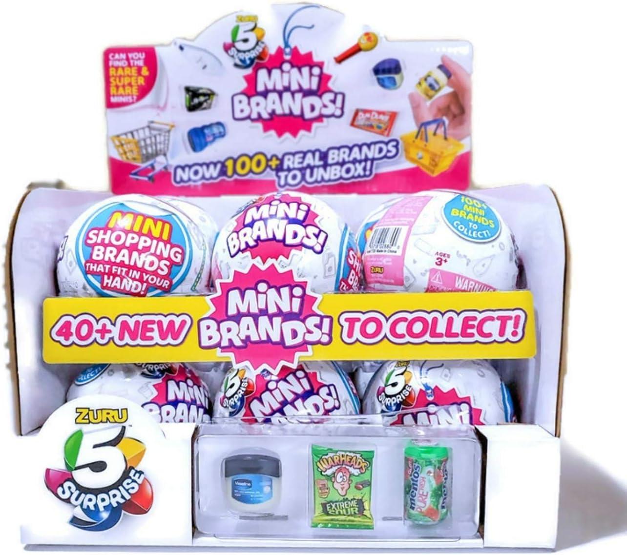 Zuru 5 Surprise Mini Brands Case of 12 Capsule Balls with Food Stickers