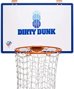 The Dunk Collection Dirty Dunk Over-The-Door Basketball Hoop Laundry Hamper, Original Theme (20)