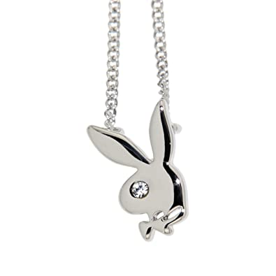 Playboy bunny pendant necklace amazon jewellery playboy bunny pendant necklace aloadofball Image collections