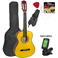 Childrens Classical Spanish Guitar Kids Pack 1/2 Size with Free Tuner by Mad About