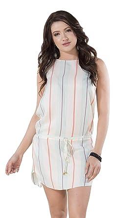 c253de040b7 Salinas Rio Imported Brazilian Striped Open Back Dress - Women s at ...