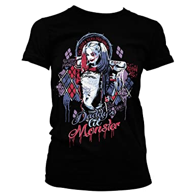 34777f50823 Suicide Squad Officially Licensed Merchandise Harley Quinn Girly Tee at  Amazon Women s Clothing store