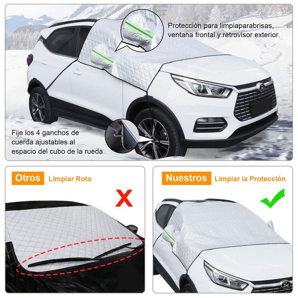 visera solar 140 * 70cm Cubierta de algod/ón para la nieve del parabrisas delantero del coche de Kayme m/ás gruesa color : Blanco Protector de sombrilla para el hielo y las heladas
