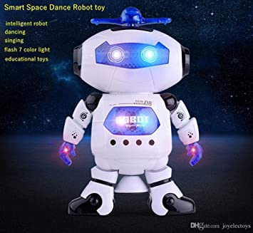 LED Light Music Electric Dancing Robot Space Walking Robot Kids Toy Xmas Gift