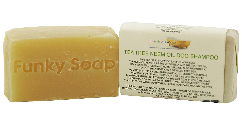 1 pièce arbre de thé& Huile De Margousier Shampoing Pour Chiens 100% Naturel Artisanal 65g Funky Soap