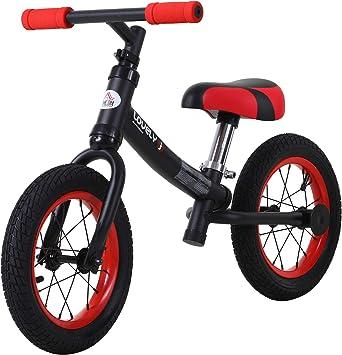 HOMCOM Bicicleta sin Pedales Sillín Regulable 31-45cm Recomendado para niños + 2 Años Rueda de Goma Carga 25kg 65x33x46cm Negra: Amazon.es: Juguetes y juegos