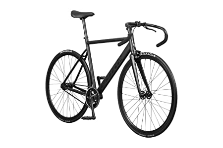Pure Cycles Keirin Complete Fixed Gear Track Bike with Double-Butted 6061 Aluminum Frame