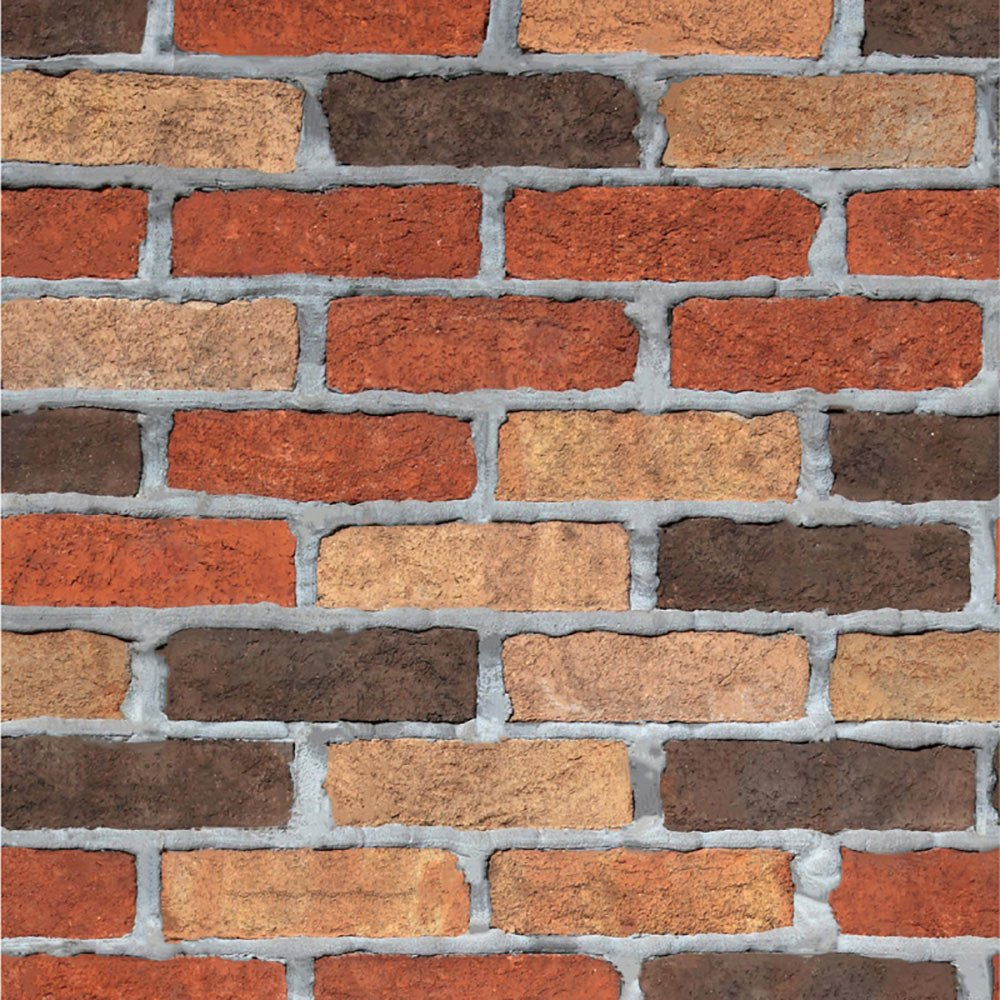 AMOFINY Home Decor 3D Brick Stone Rustic Effect Self-Adhesive Wall Sticker Home Decoration