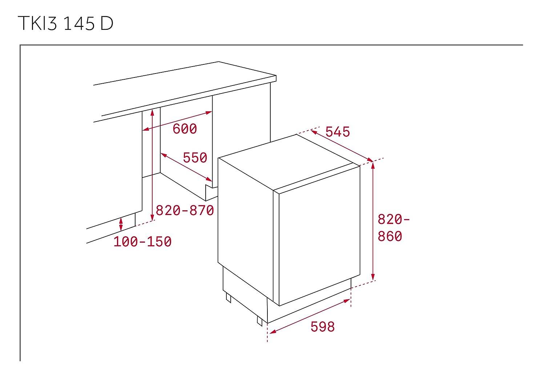 Teka TKI3 145 D Integrado 128L A++ Blanco - Frigorífico (128 L, SN ...