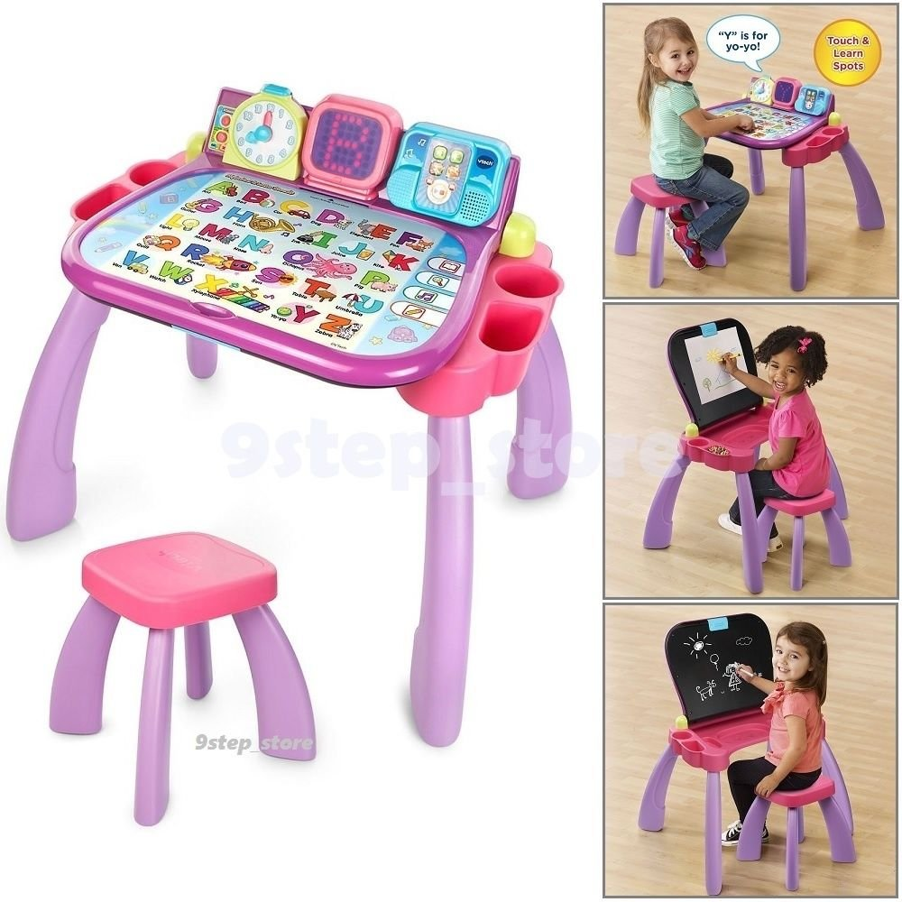 3 In 1 Learning Touch Art Table Toddler Activity Kids Desk Educational Fun Play