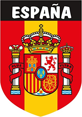 Artimagen Pegatina Escudo Vertical España 40x60 mm.: Amazon.es ...