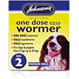 Johnsons Veterinary Products Pilule vermifuge à utilisation unique pour petits chiens