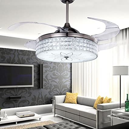 Lovely RS Lighting 42 Inch Best Ceiling Fan European Crystal Retractable Ceiling Fan  Decoration Lighting Cool Circulating