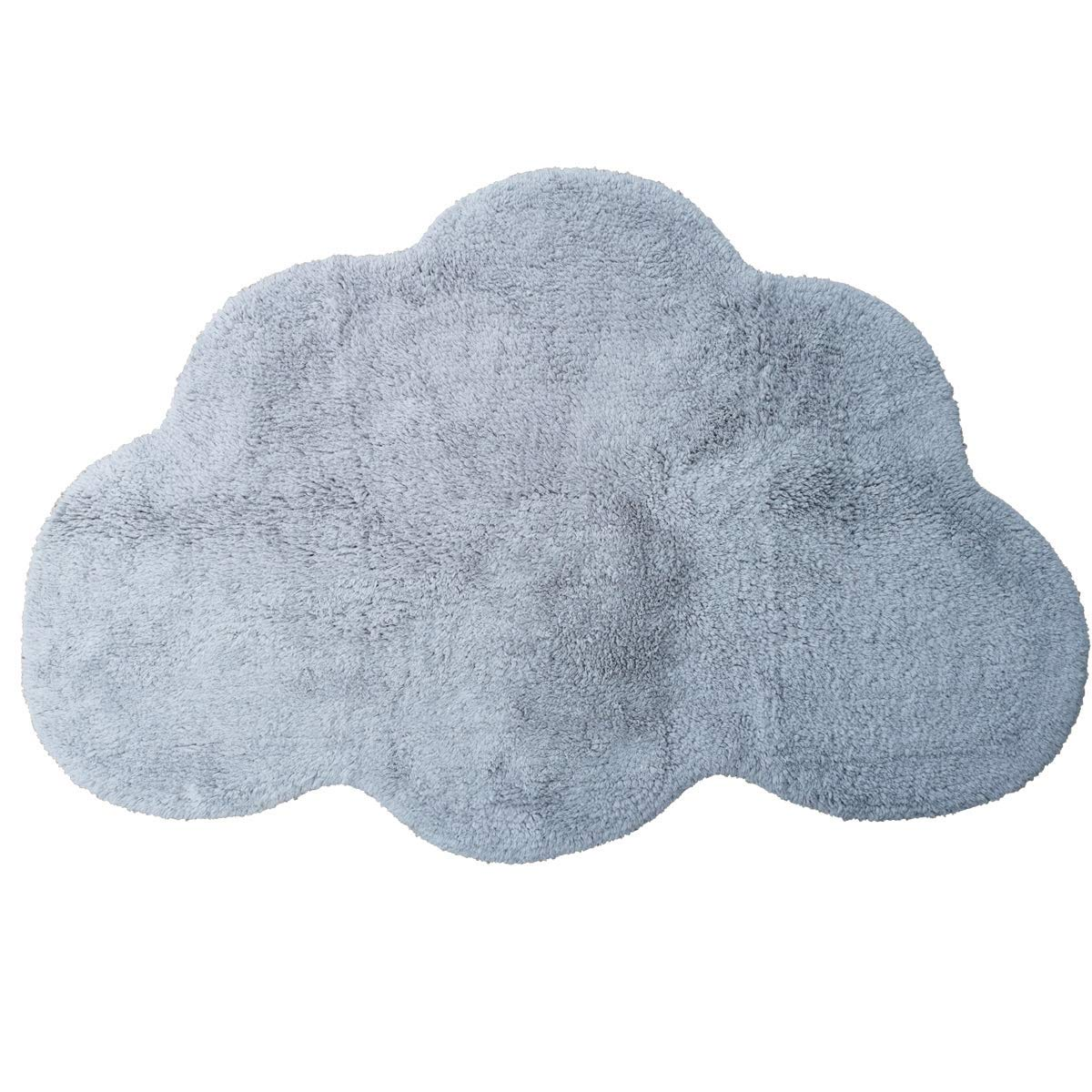 Area Rugs for Kids Cloud Shape Baby Crawling Rugs Carpet Room Warm Soft 100/% Cotton Luxury Plush Handmade Knitted Nursery Decoration Rugs 39.5 INCH25.5 INCH Russian Blue