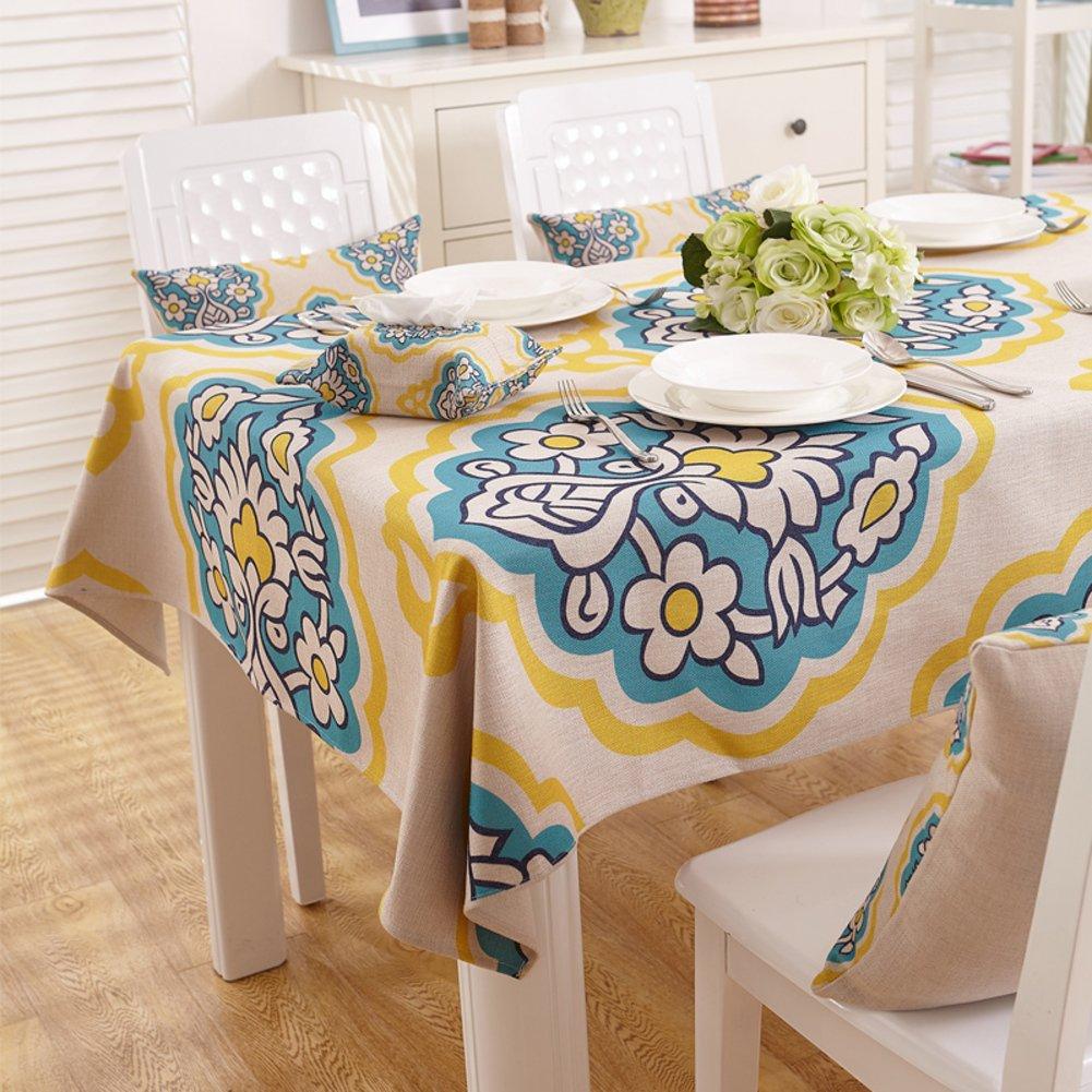 G 140x140cm(55x55inch) American Country Tischdecken  Tischtuch  Tischtuch Pastorale Baumwolle Tischdecke Verdicken Sie Tuch  längliche Tischdecke-G 140x140cm(55x55inch)