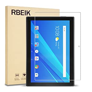 "RBEIK Lenovo Tab 4 10 Screen Protector Glass - 9H Hardness Scratch Resistant Bubble Free Tempered Glass Screen Protector for Lenovo Tab 4 10.1"" Tablet 2017 Release"