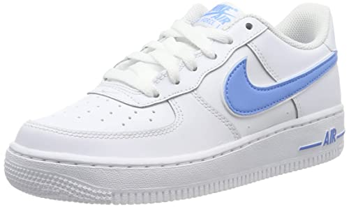 cozy fresh top fashion exclusive deals Nike Herren Air Force 1-3 (Gs) Basketballschuhe, Weiß/Hellblau
