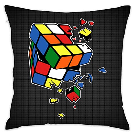 Amazon.com: CrownLiny - Funda de cojín para sofá, cubo de ...