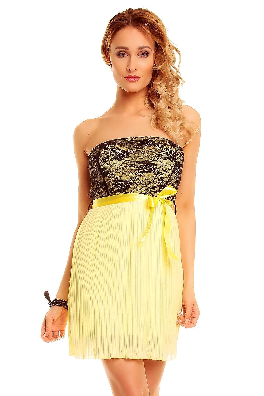 Kurzes Bandeau Kleid Partykleid, Abendkleid, Cocktailkleid Spitze ...
