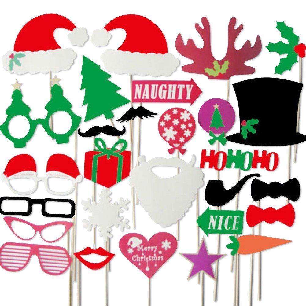 Veewon 28pcs Noël Photo Booth Props et Photo Booth Accessoires Faveur pour  les décorations de fête de Noël  Amazon.fr  Jeux et Jouets 77ff58e8b0c