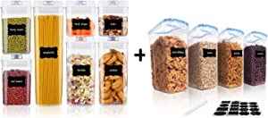 Vtopmart 7pcs Airtight Containers and 4pcs Cereal Storage Containers