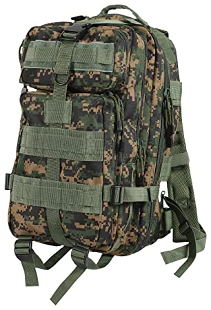 Rothco Army Mochila Medium Tactical transporte Pack Digital Camou Woodland: Amazon.es: Deportes y aire libre