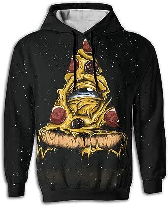 FUSALIN Cartoon PeacockUnisex 3D Printed Sweatshirt Casual Pullover Hoodie With Big Pockets