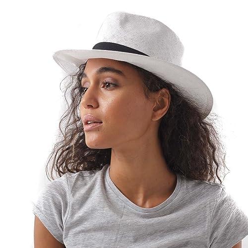 Cappello borsalino trama sottile di color bianco nero
