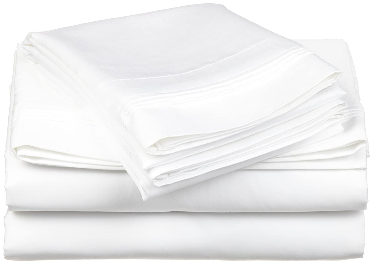 4b1893d26a Amazon.com: 100% Egyptian Cotton 650 Thread Count, Twin XL 3-Piece Sheet Set,  Deep Pocket, Single Ply, Solid, White: Home & Kitchen