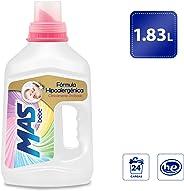 MAS Mas Bebé Detergente Líquido, 1.83 L (24 Cargas), color, 1.83 L, pack of/paquete de