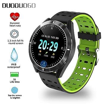 Smartwatch Reloj Resistente IP68 Impermeable Hombre Mujer Niños Pulsera Actividad Reloj Inteligente Cardio Podómetro Reloj Bluetooth Reloj deportivo ...