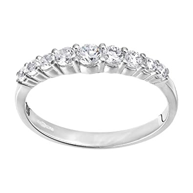 Citerna 9 ct Eternity Ring with CZ Stones in Crossover Setting bAsrYgzk
