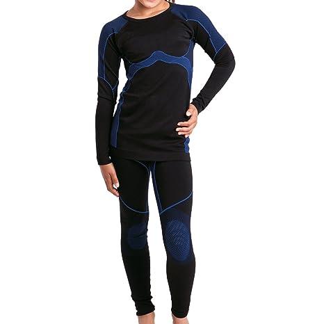 Gomati Kinder Sport Thermo Funktionswäsche Set (Hemd & Hose) Seamless - Ski-, Thermo- & Funktionswäsche ohne störende Nähte f
