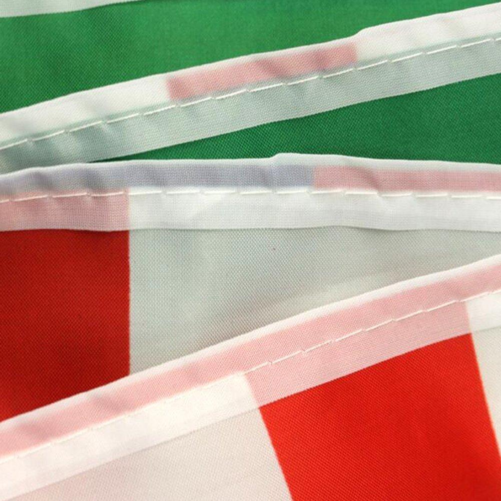 8 metros FIFA Copa Mundial de la Copa del Mundo Top 32 naciones unidas pequeña banderas, banderines de tela para fútbol noche, jardín banderas, ...