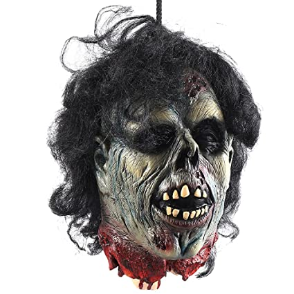 wrightus halloween props scary hanging severed head decorationslife size bloody cut off corpse
