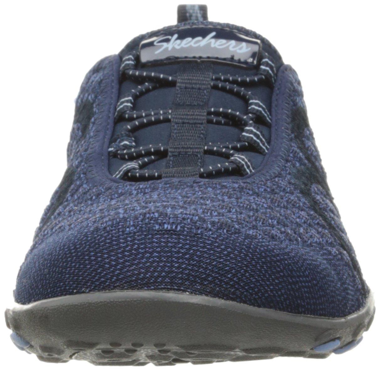 Skechers Sport Women's Breathe Easy Fortune Fashion Sneaker,Navy Knit,5.5 M US by Skechers (Image #4)