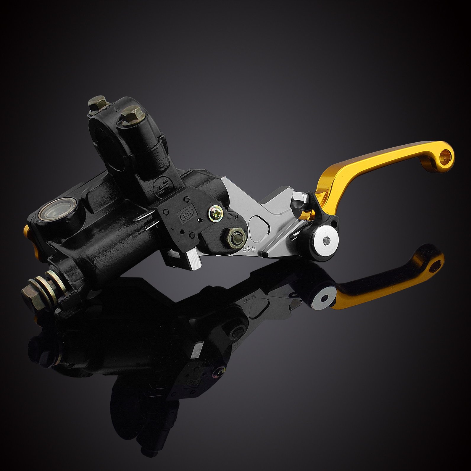 MZS 7/8 Brake Master Cylinder Reservoir Pivot Levers Set for Honda Yamaha Suzuki Kawasaki KTM (Gray) by MZS (Image #5)
