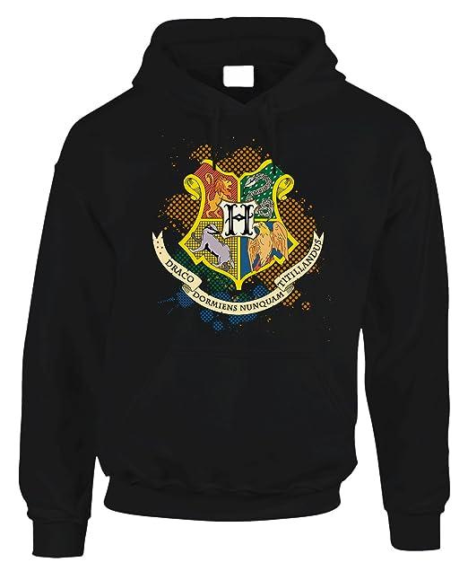 b3a18292a2 fashwork Felpa con Cappuccio Harry Potter Hogwarts Houses - in Cotone by