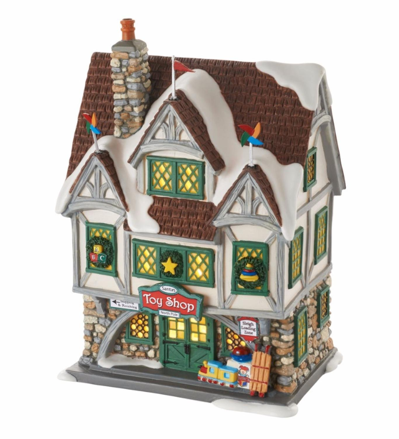 Department 56 Elf The Movie Santa's Toy Shop Lighted Building #4053057