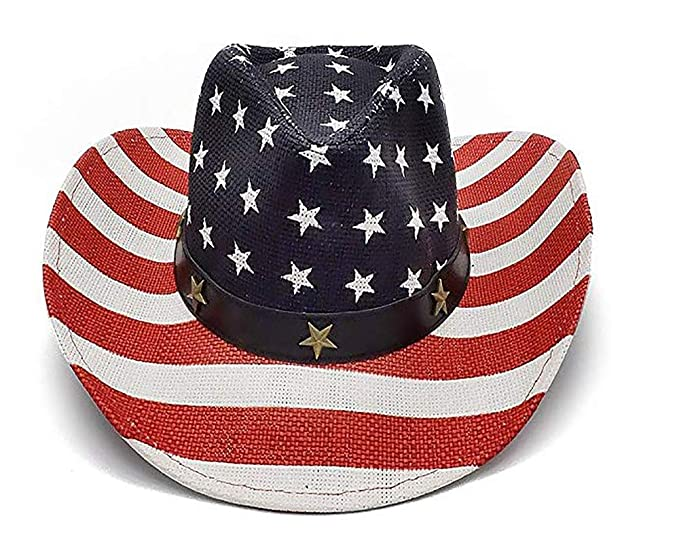 8f3f3626 CUUL Men's Vintage Western Cowboy Sun Straw Hat 4th July American ...